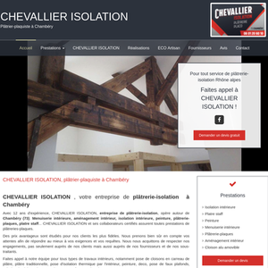 CHEVALLIER ISOLATION Chambéry, plâtrerie plaquisterie, isolation intérieure, menuiserie intérieure, peinture, plâtrerie plaquisterie